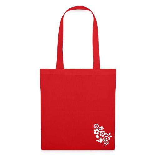 Flower Bag Red - Borsa di stoffa