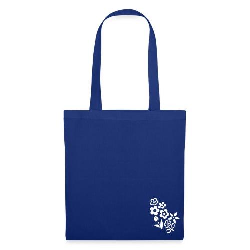 Flower Bag Blue - Borsa di stoffa