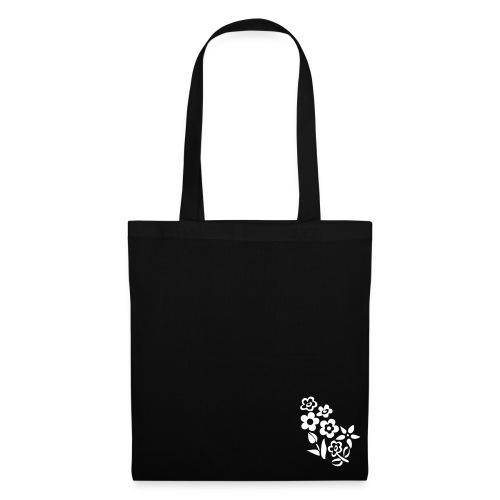 Flower Bag Black - Borsa di stoffa