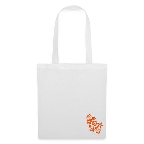 Flower Bag White - Borsa di stoffa