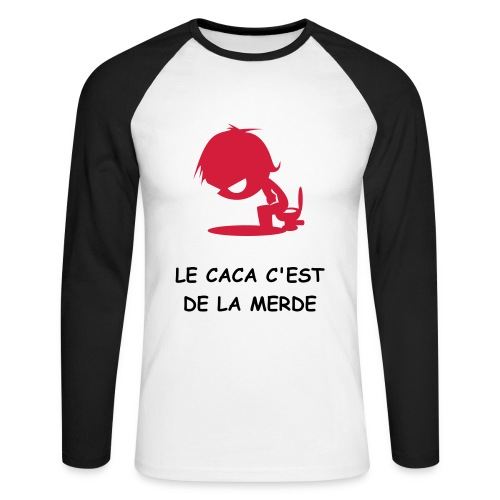 caca - T-shirt baseball manches longues Homme