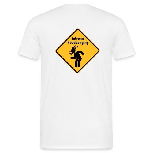 Extreme Headbanging Metal T-Shirt White (M) - Maglietta da uomo