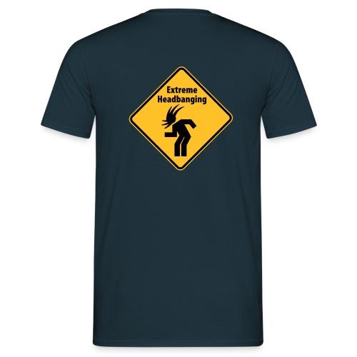 Extreme Headbanging Metal T-Shirt Blue (M) - Maglietta da uomo