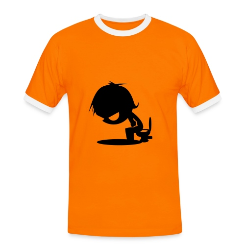 der Mann (schwarz) - Männer Kontrast-T-Shirt