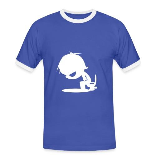 der Mann (weiß) - Männer Kontrast-T-Shirt