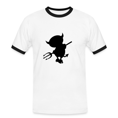 devil - T-shirt contrasté Homme