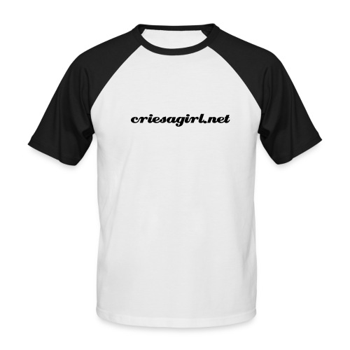 criesagirl.net white - Men's Baseball T-Shirt