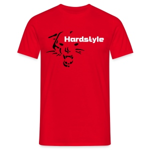 Hardstyle Wild Cat (rouge) - T-shirt Homme