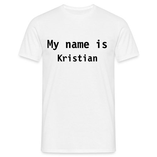 My name is... - T-skjorte for menn