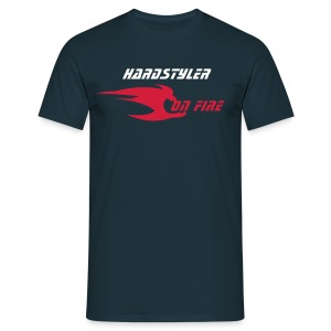 Hardstyler on fire (navy) - T-shirt Homme