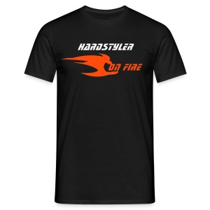 Hardstyler on fire (noir 1) - T-shirt Homme