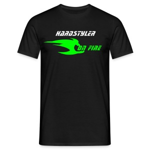 Hardstyler on fire (noir 2) - T-shirt Homme