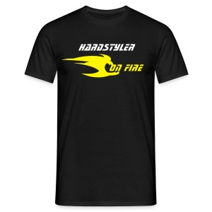 Hardstyler on fire (noir 3) - T-shirt Homme