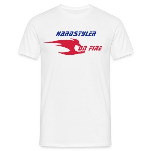 Hardstyler on fire (blanc) - T-shirt Homme