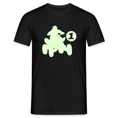 Glow In dark Quad - Men's T-Shirt
