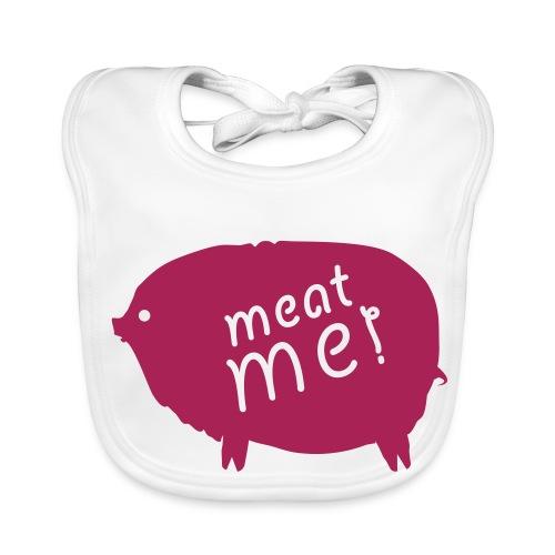 Meat me blanc - Bavoir bio Bébé