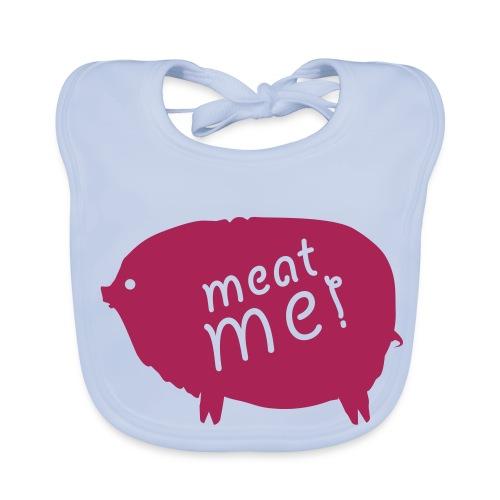 Meat me bleu - Bavoir bio Bébé