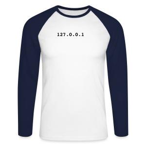 localhost [hack] - Koszulka męska bejsbolowa z długim rękawem