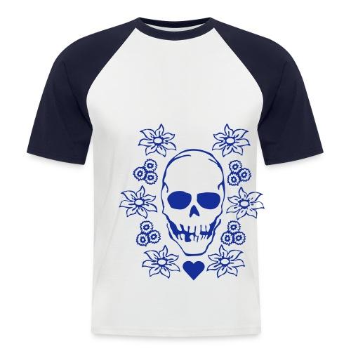 T-Shirt Teschio - Maglia da baseball a manica corta da uomo