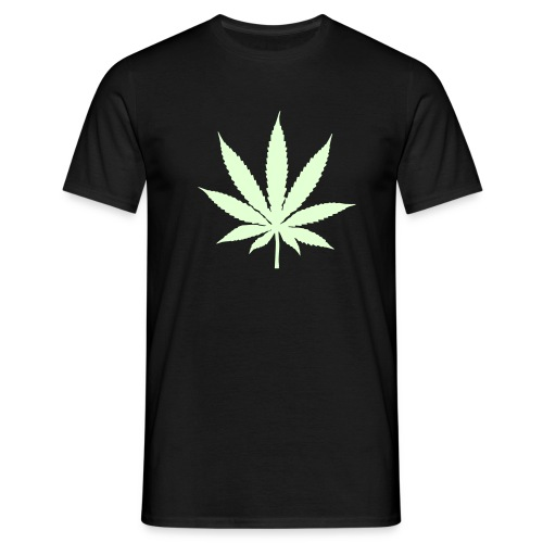 GLOW IN THE DARK weed - Mannen T-shirt