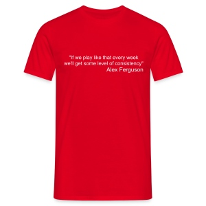 Sir Alex Quote S/S Red - Men's T-Shirt