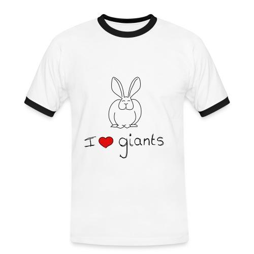 I Love Giant Rabbits - Men's Ringer Shirt