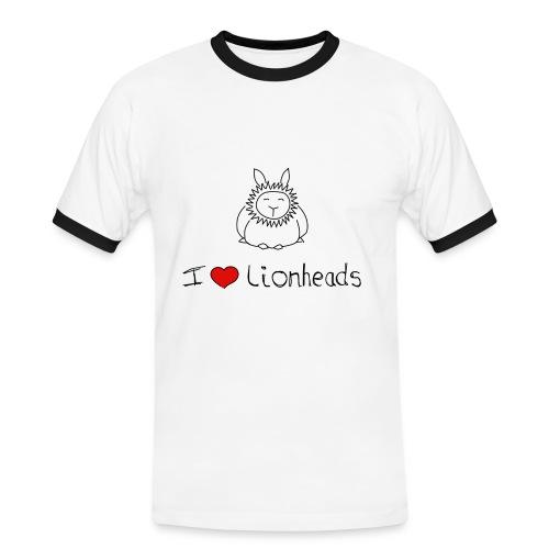 I Love Lionhead rabbits - Men's Ringer Shirt