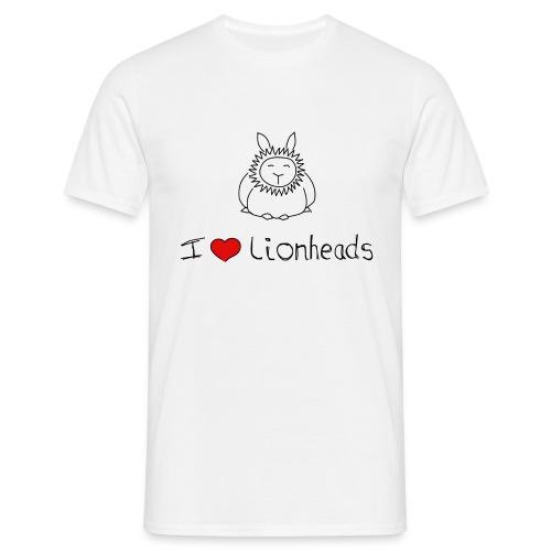 I Love Lionhead rabbits - Men's T-Shirt