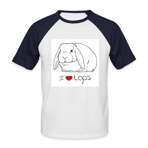 I Love Lops 2 - Men's Baseball T-Shirt