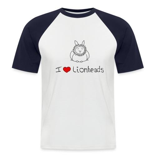 I Love Lionhead rabbits - Men's Baseball T-Shirt