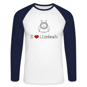 I Love Lionhead rabbits - Men's Long Sleeve Baseball T-Shirt