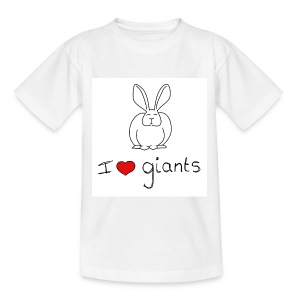 I Love Giant Rabbits - Teenage T-shirt