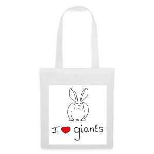I Love Giant Rabbits - Tote Bag