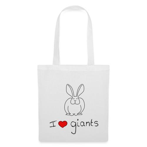 I Love Giant Rabbits - Tote Bag
