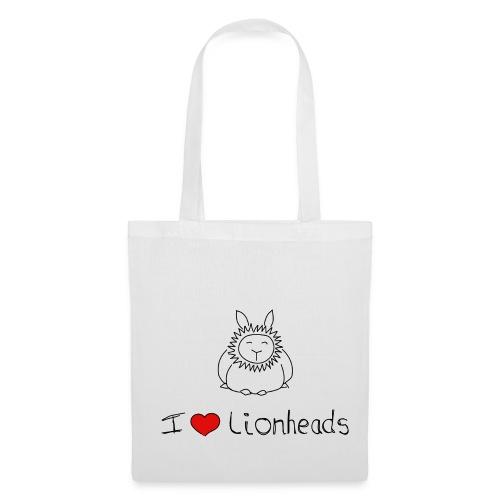 I Love Lionhead rabbits - Tote Bag