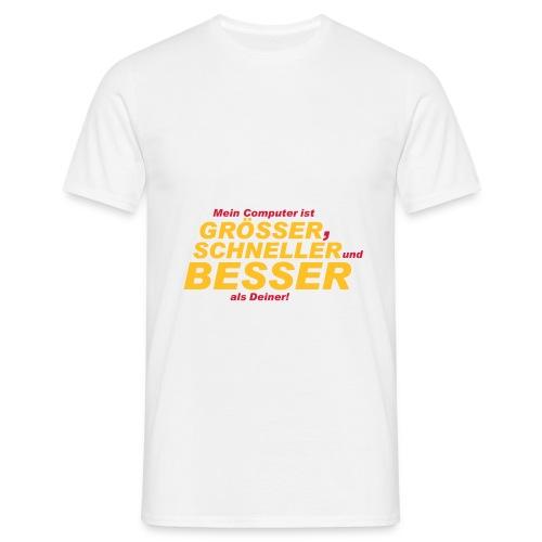 Mein Computer ist... - Männer T-Shirt