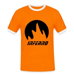 Mens Slim Contrast Tee Inferno - Men's Ringer Shirt