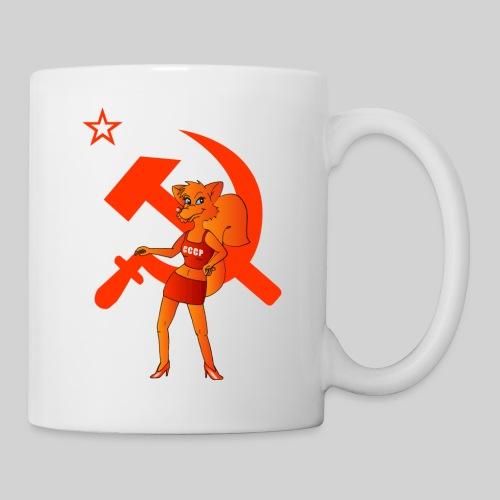 russian fox Russischer Fuchs mit Hammer & Sichel