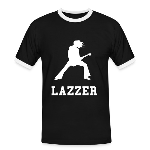 Mens Slim Contrast Tee LAZZER - Men's Ringer Shirt