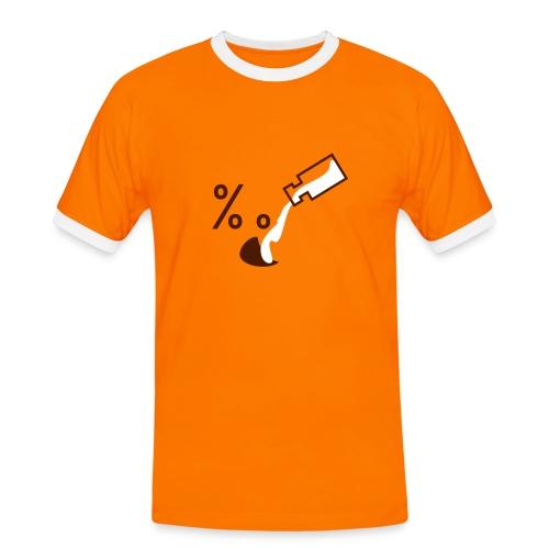 Mens Slim Contrast Tee - Mannen contrastshirt