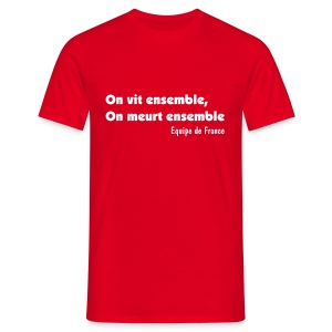 On vit ensemble - Rouge - T-shirt Homme