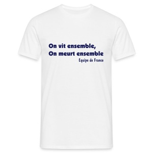 On vit ensemble - Blanc - T-shirt Homme