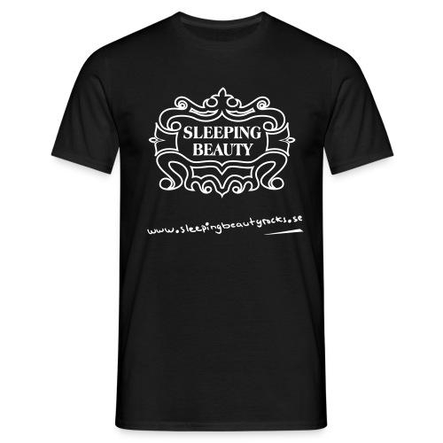 Vitt tryck på svart Comfort T t-shirt - T-shirt herr