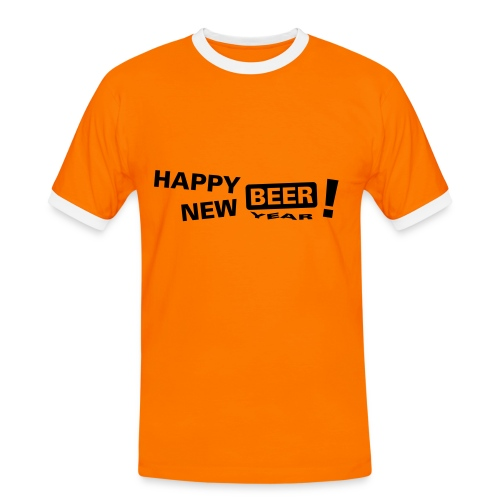 Happy New Beer - T-shirt contrasté Homme