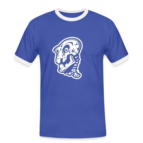 Blauw shirt - Mannen contrastshirt