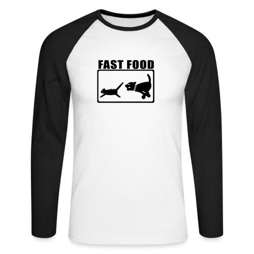 Fast Food - Männer Baseballshirt langarm