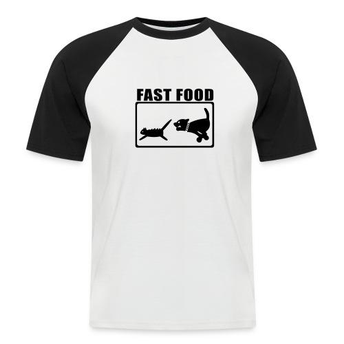 Fast Food - Männer Baseball-T-Shirt
