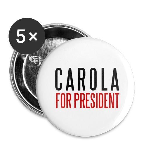 CAROLA FOR PRESIDENT - Små knappar 25 mm (5-pack)
