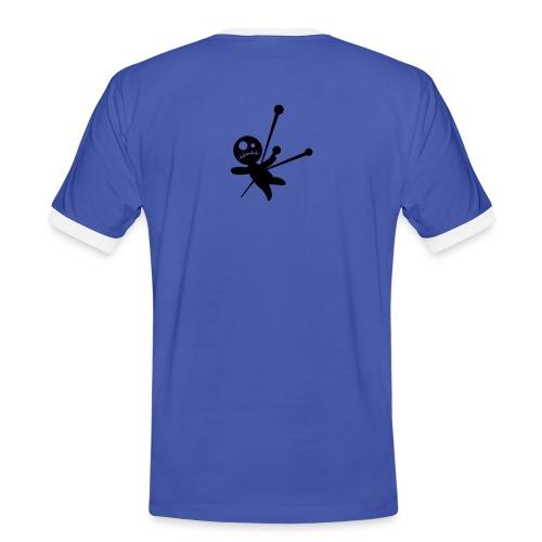 T-shirt - Kontrast-T-skjorte for menn
