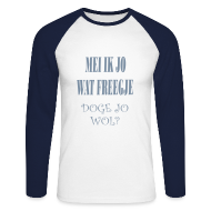 Shirts met lange mouwen ~ Mannen baseballshirt lange mouw ~ Longsleeve Doge
